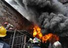 В Якутии пожар на нефтяной базе