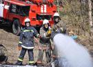 Пожар на нефтебазе Красноярска